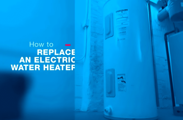 how to install eletric hot water heater in home